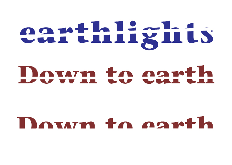 Down to Earth and Earthlights logo