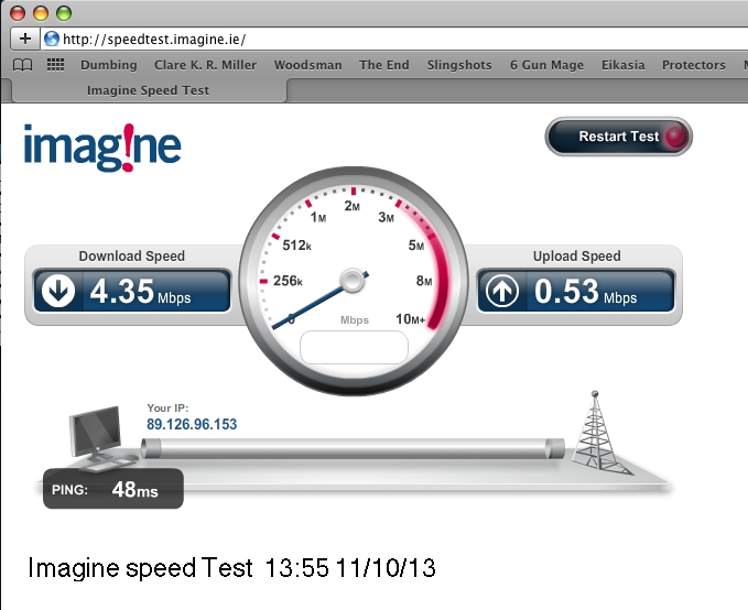 Imagine Speed test- 13.55 11:10:13