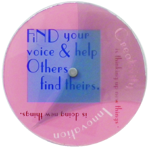 1- Find your voice