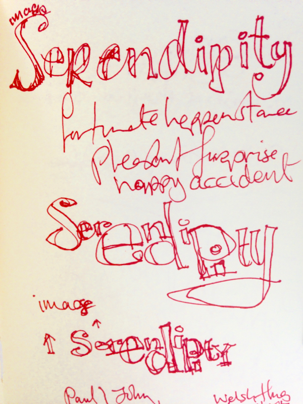 Image serendipity • fortunate happenstance, pleasant Surprise, happy accident.