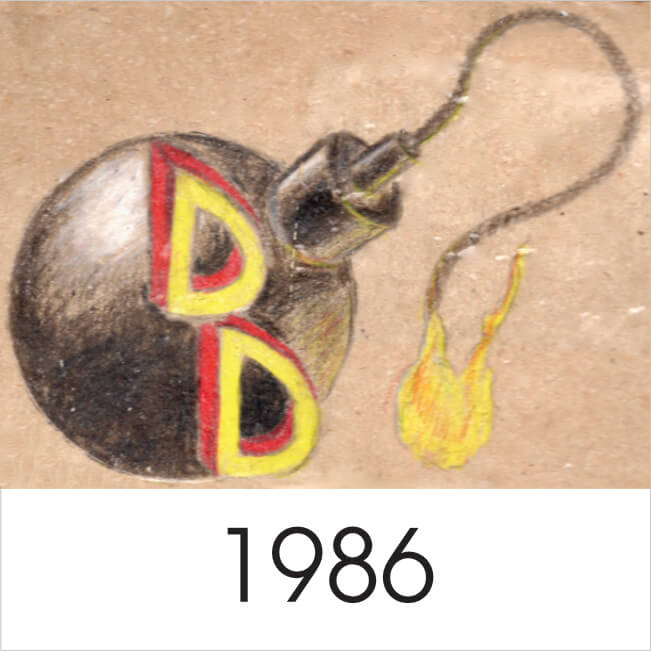 1986 mark Dubed Dangermouse this is my version of the bomb & 2, 3D, D's sumperimposed