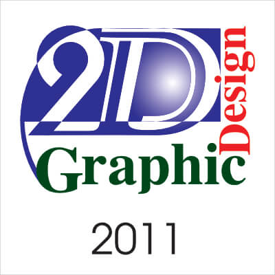 2D Graphic Design, 2011 The number 2 typeface is replaced by Cable medium typeface. D= specifically created D combing a number of typeface to create a single letterform. incasing a sphere framed by the text Graphic Design right & bottom.