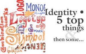 Identity 5 top things & then some - Handdrawn lettering - Monogram,  Logo,  Symbol,  Identity,  Combination Marks, Id Wordmark, logotype, iCon, goldfish.